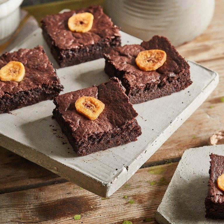 liszmentes banános mogyorókrémes brownie elkészítése
