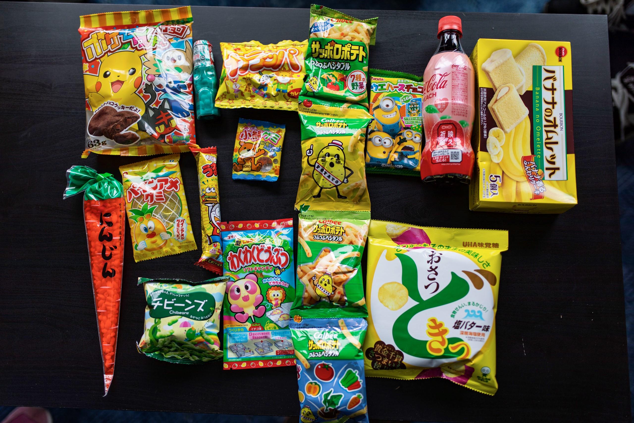 japán snackek