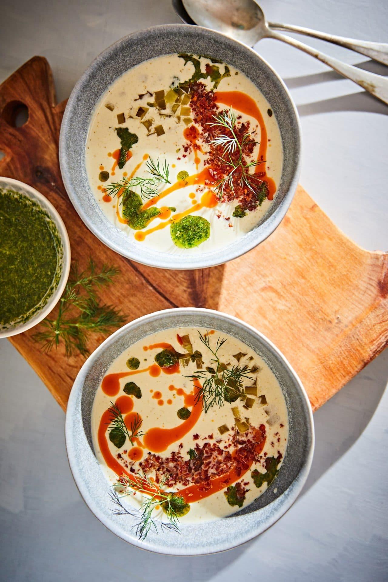 uborkás receptek - kovászosuborka-krémleves