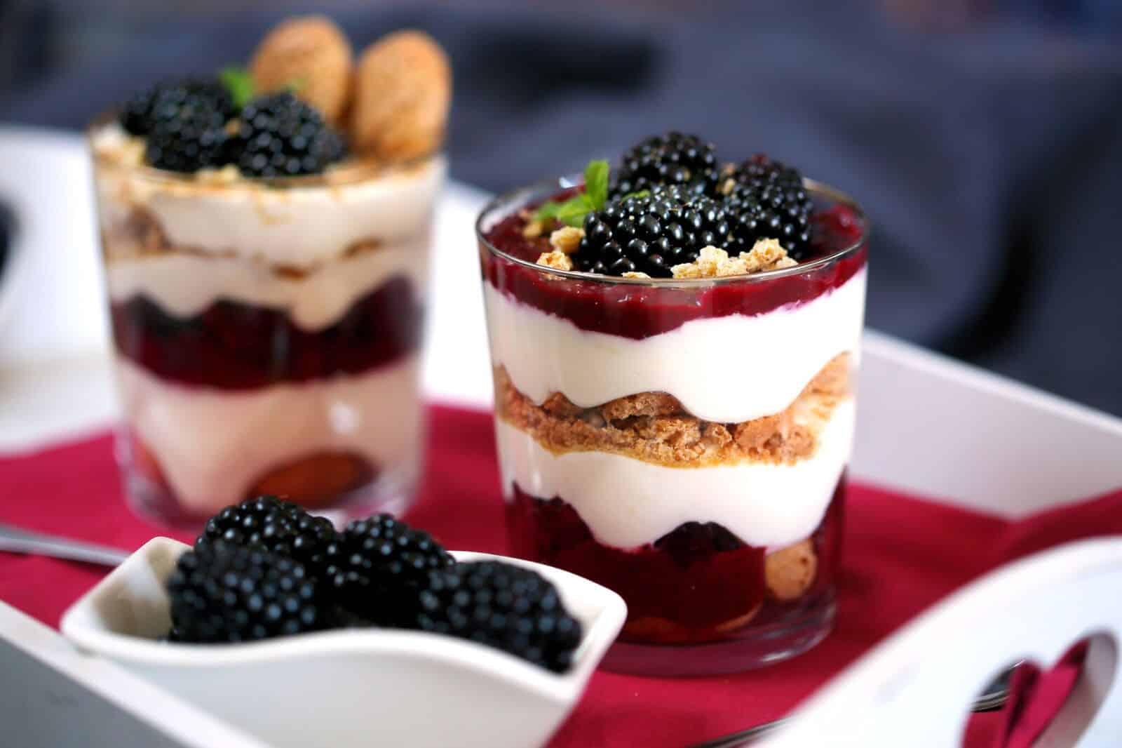 szedres pohárkrém - joghurtos sütik