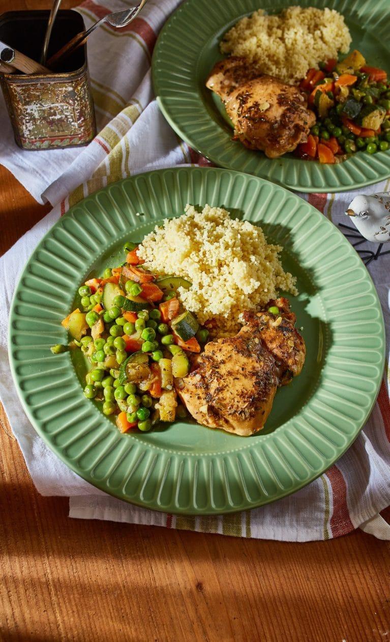 zöldséges csirkeragu kuszkusszal