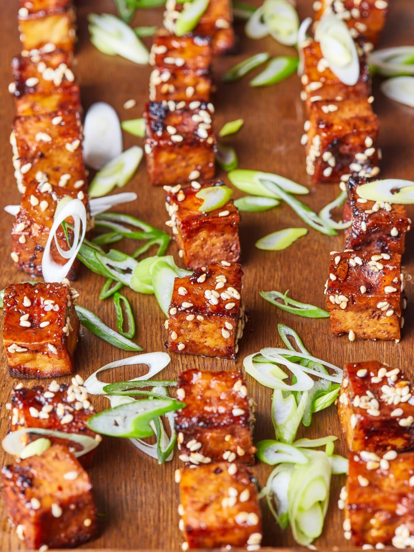 vegán sült tofu