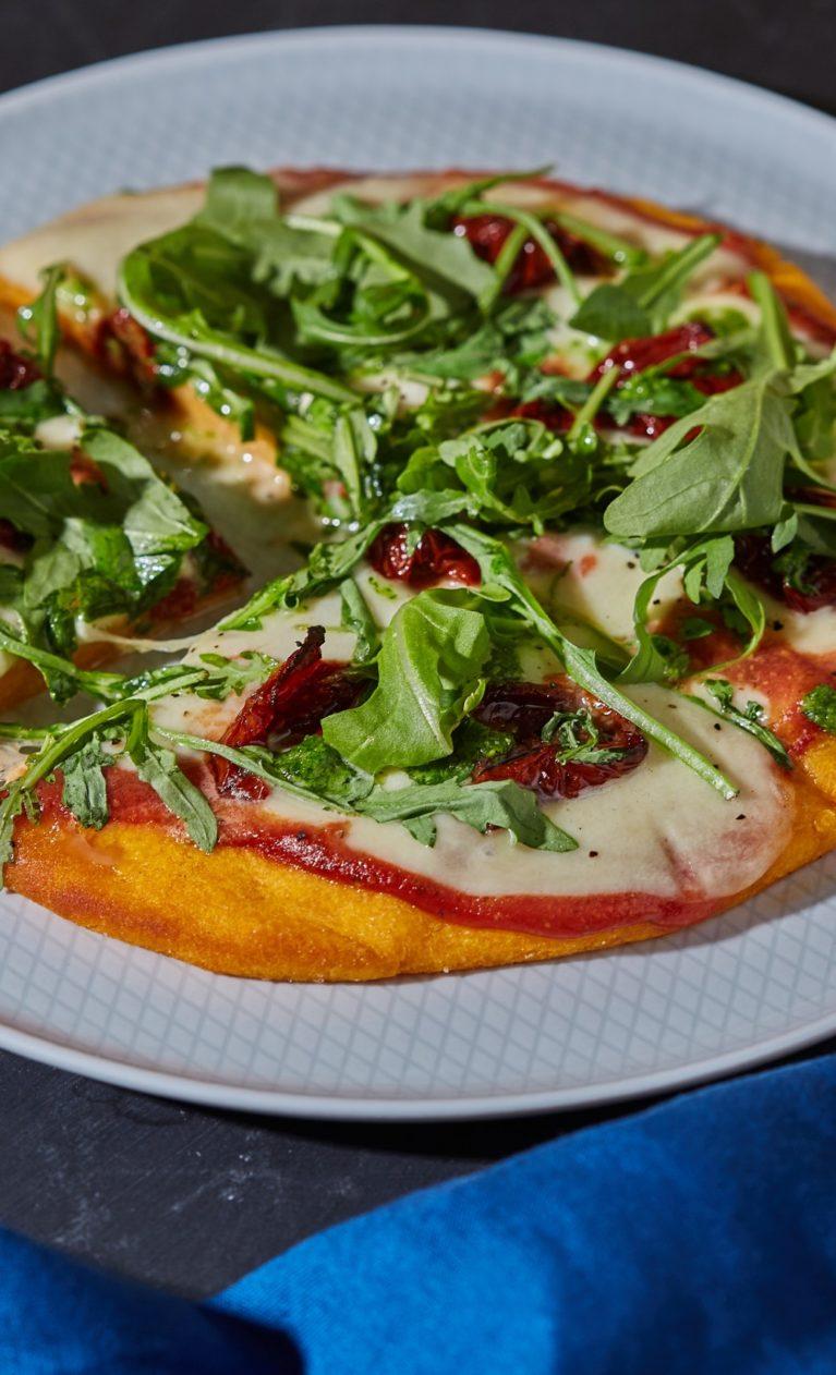Édesburgonya-pizza
