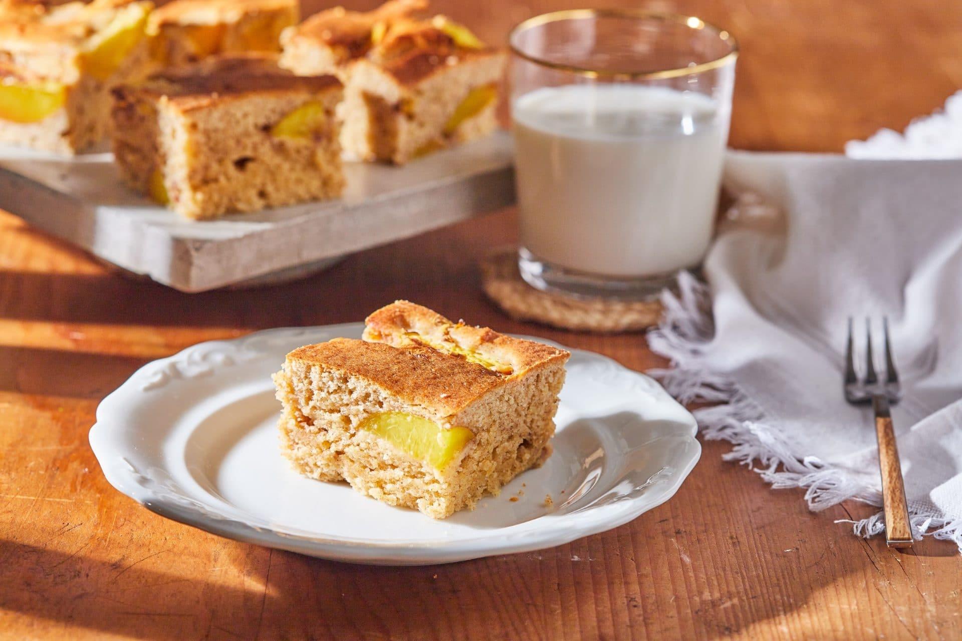 Cukormentes őszibarackos kevert süti