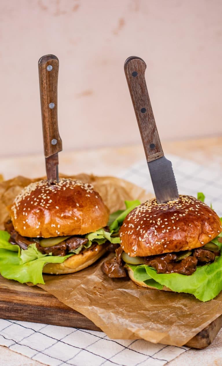 resztelt májas burger