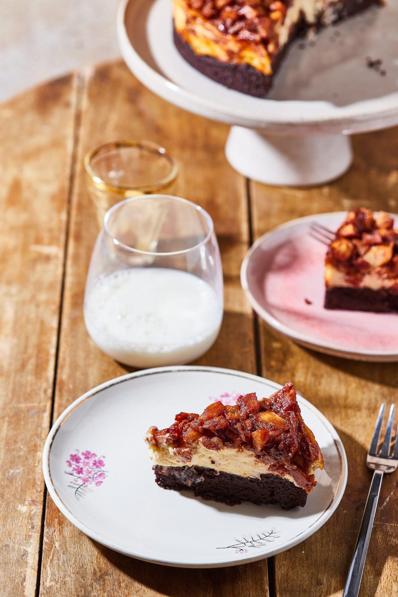 almás-fahéjas brownie sajttorta