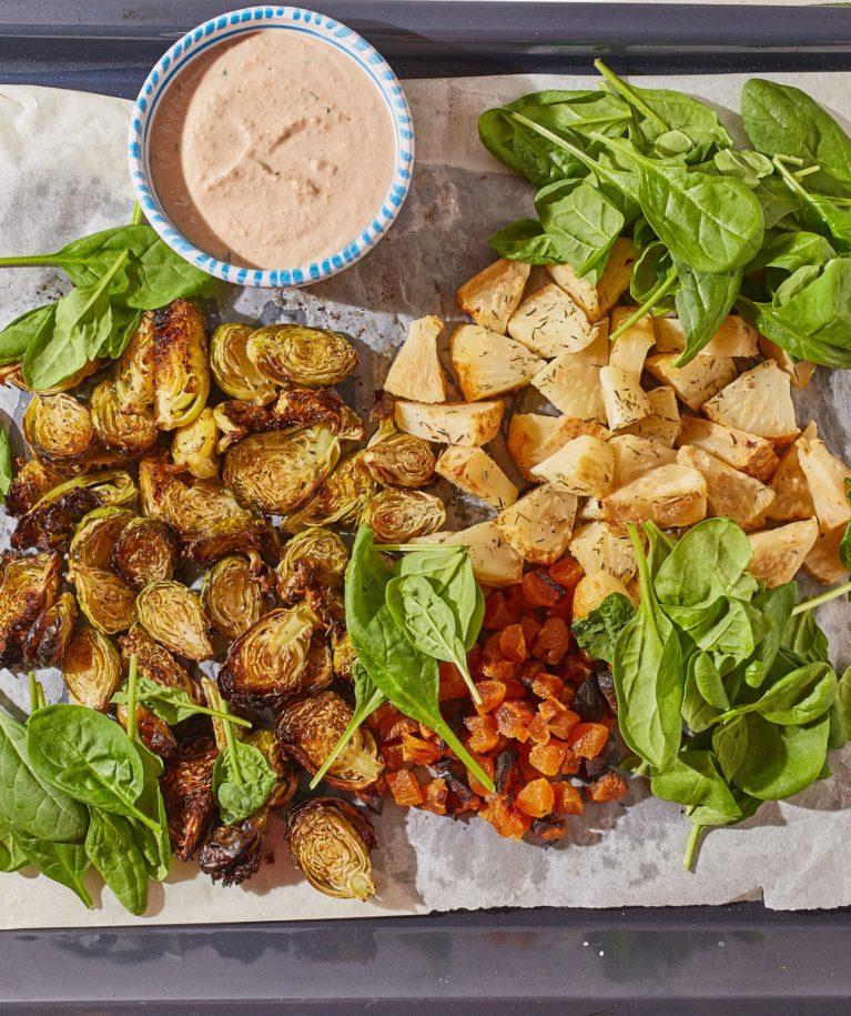 meleg zeller-kelbimbó saláta
