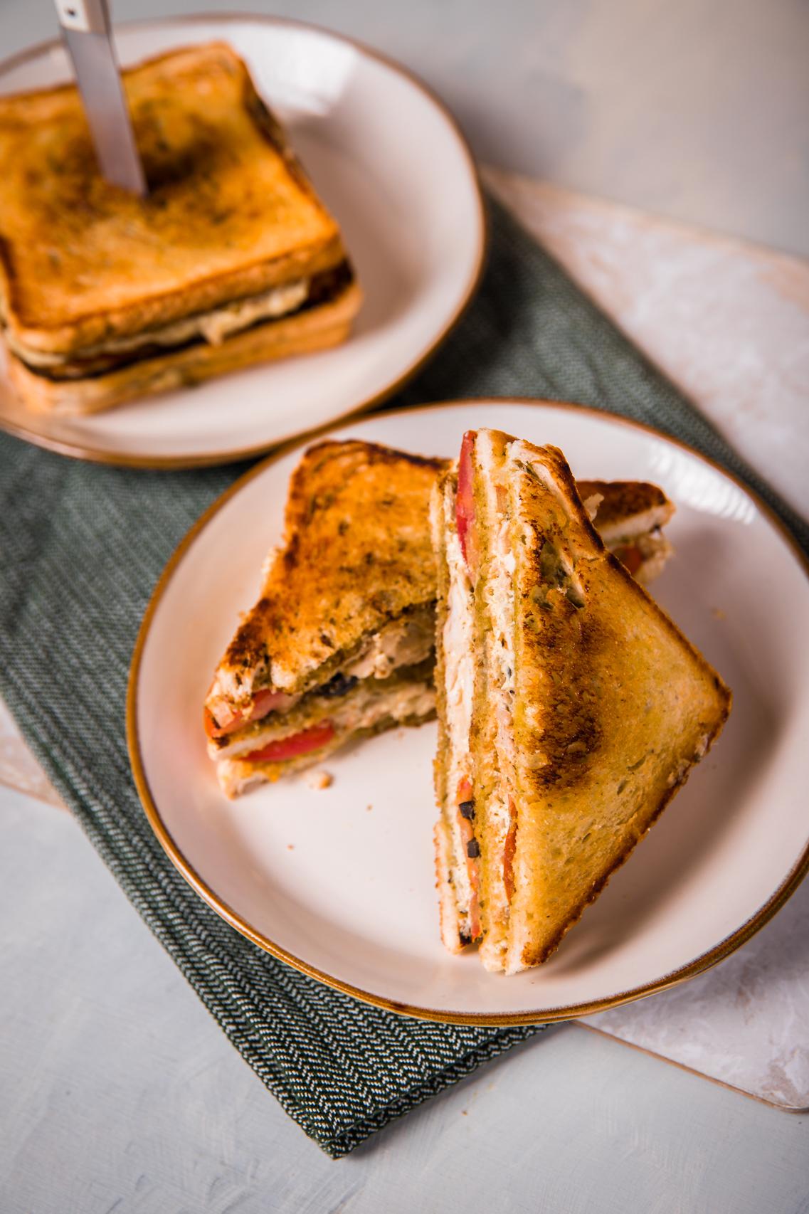 Maradékmentő grillcsirkés szendvics
