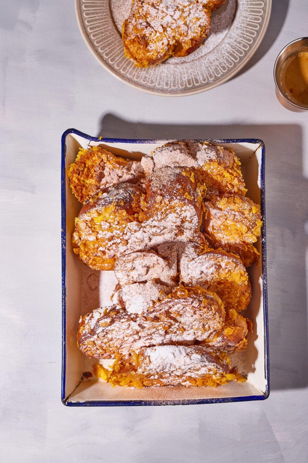 Corn flakes bundás french toast