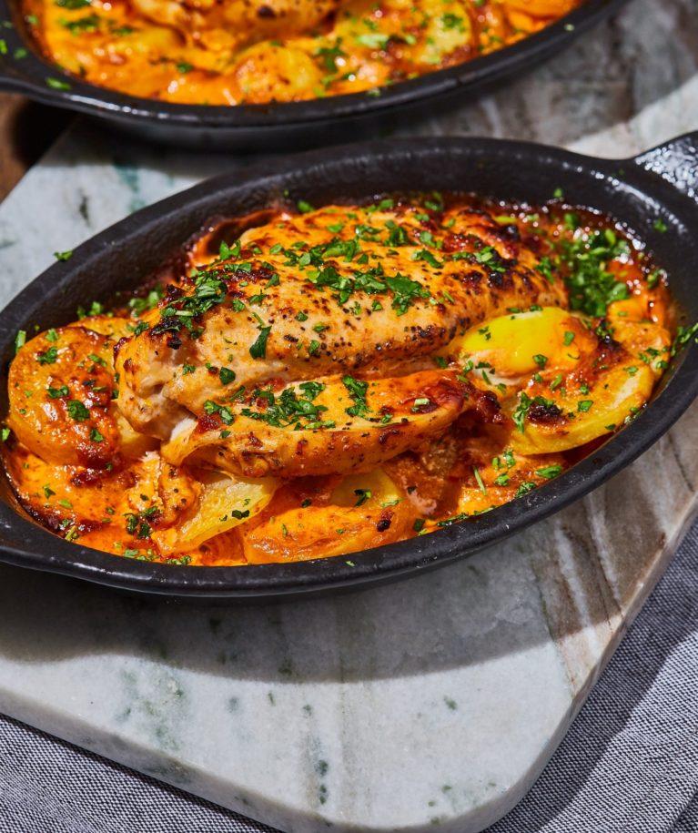 Csirkemellbe tekert mozzarella