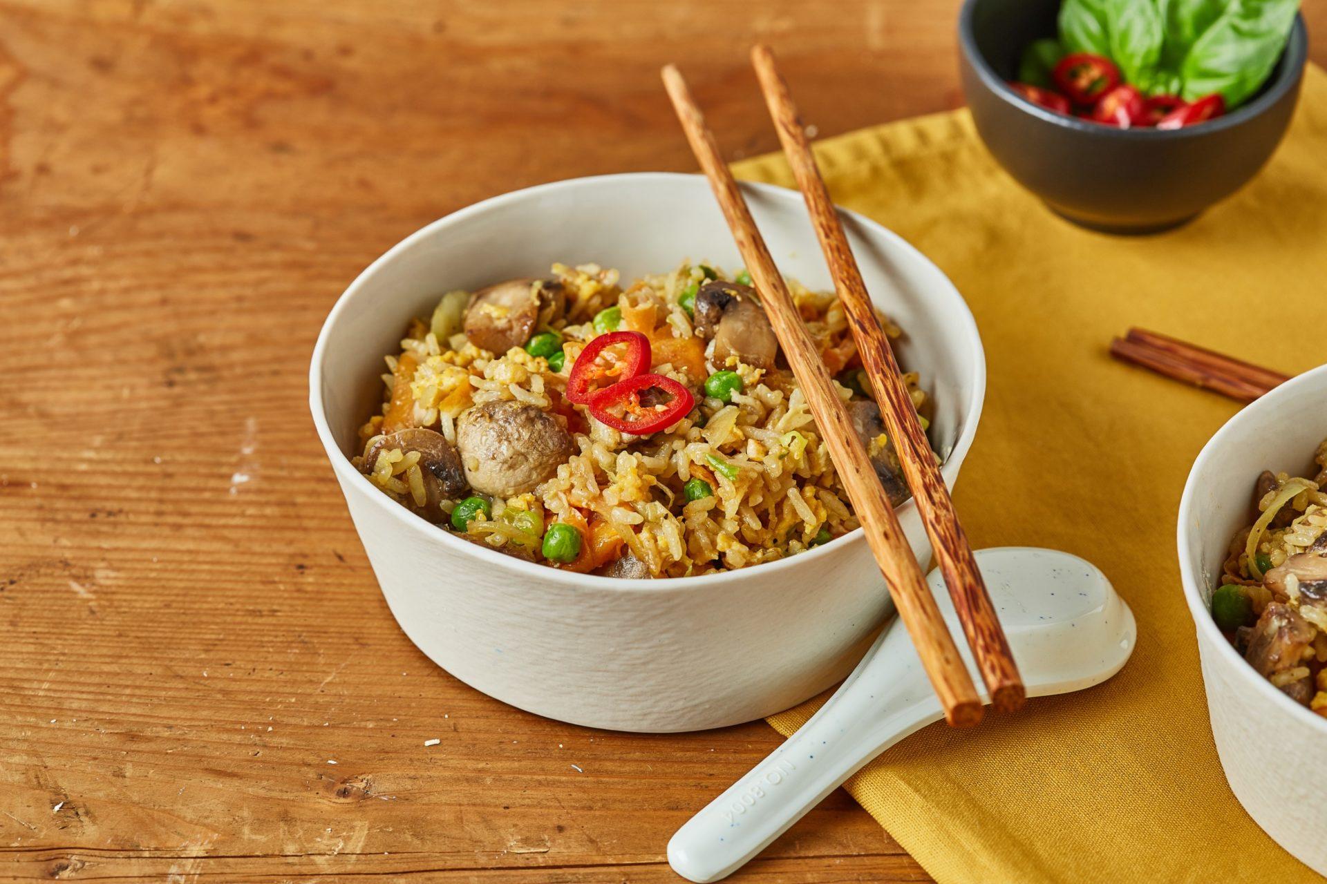 maradékmentő pirított rizs - vega kaják