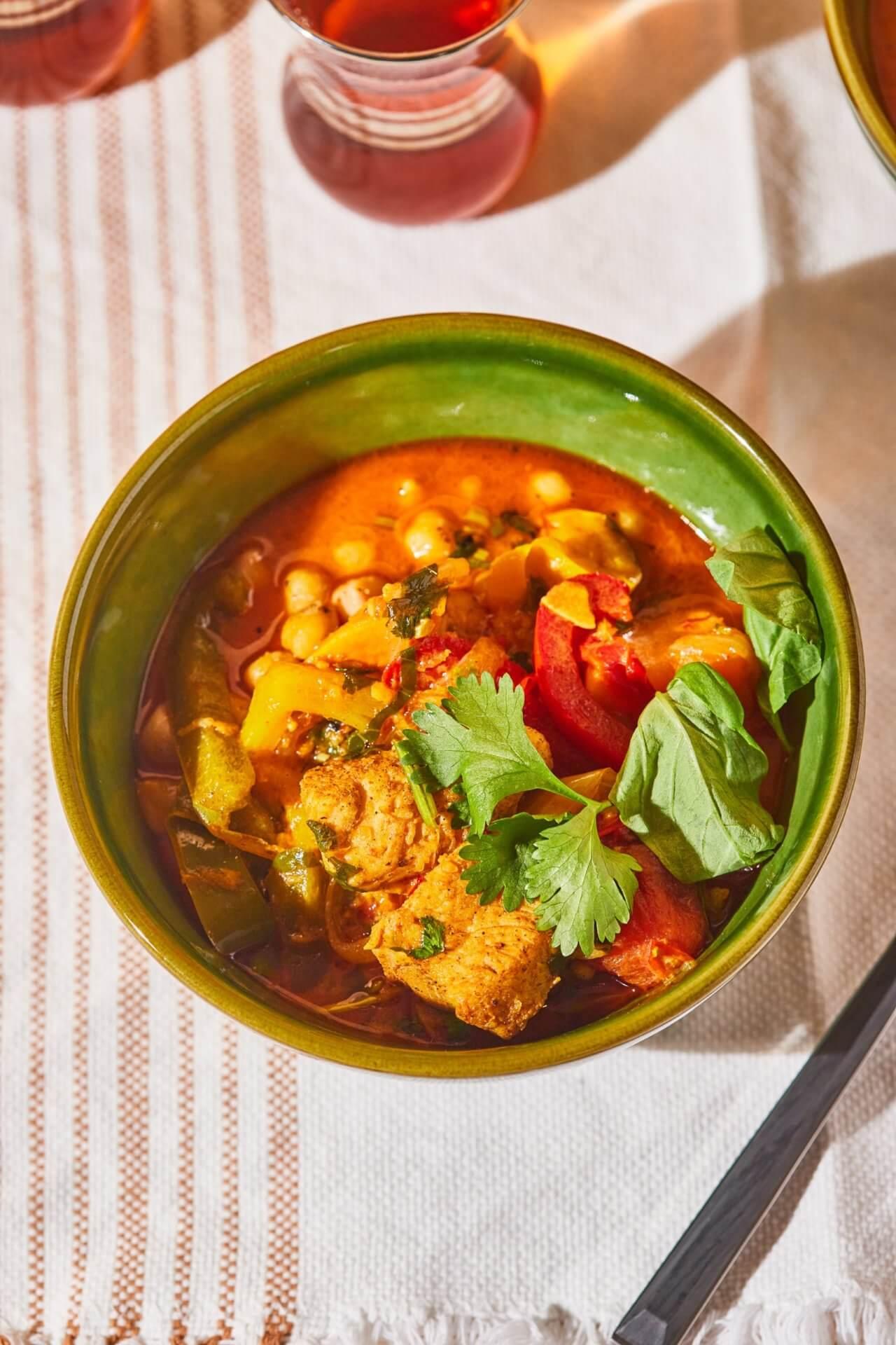 csirkes thai curry