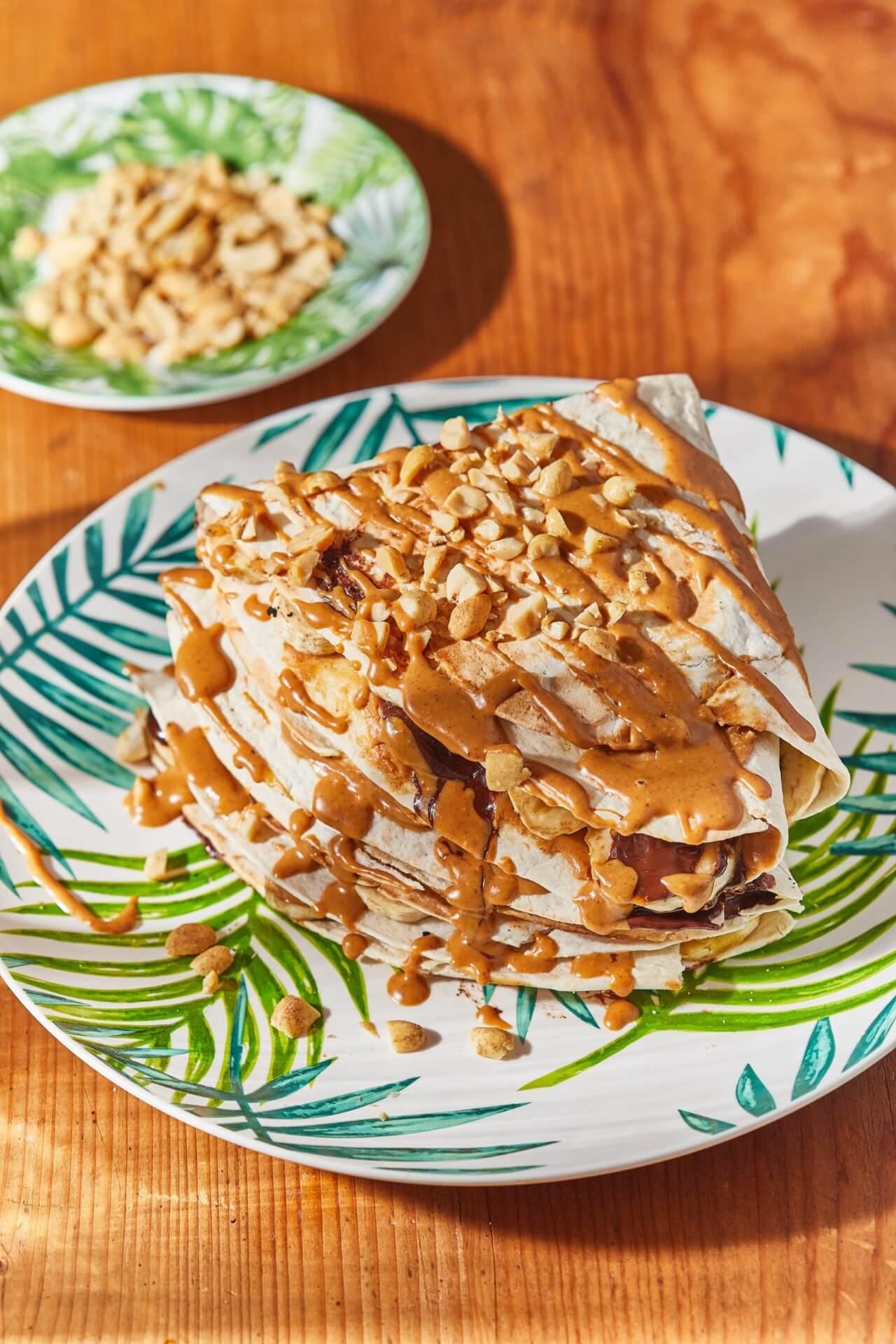 Mogyoróvajas-banános quesadilla