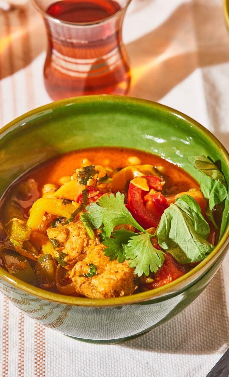 csirkés thai curry