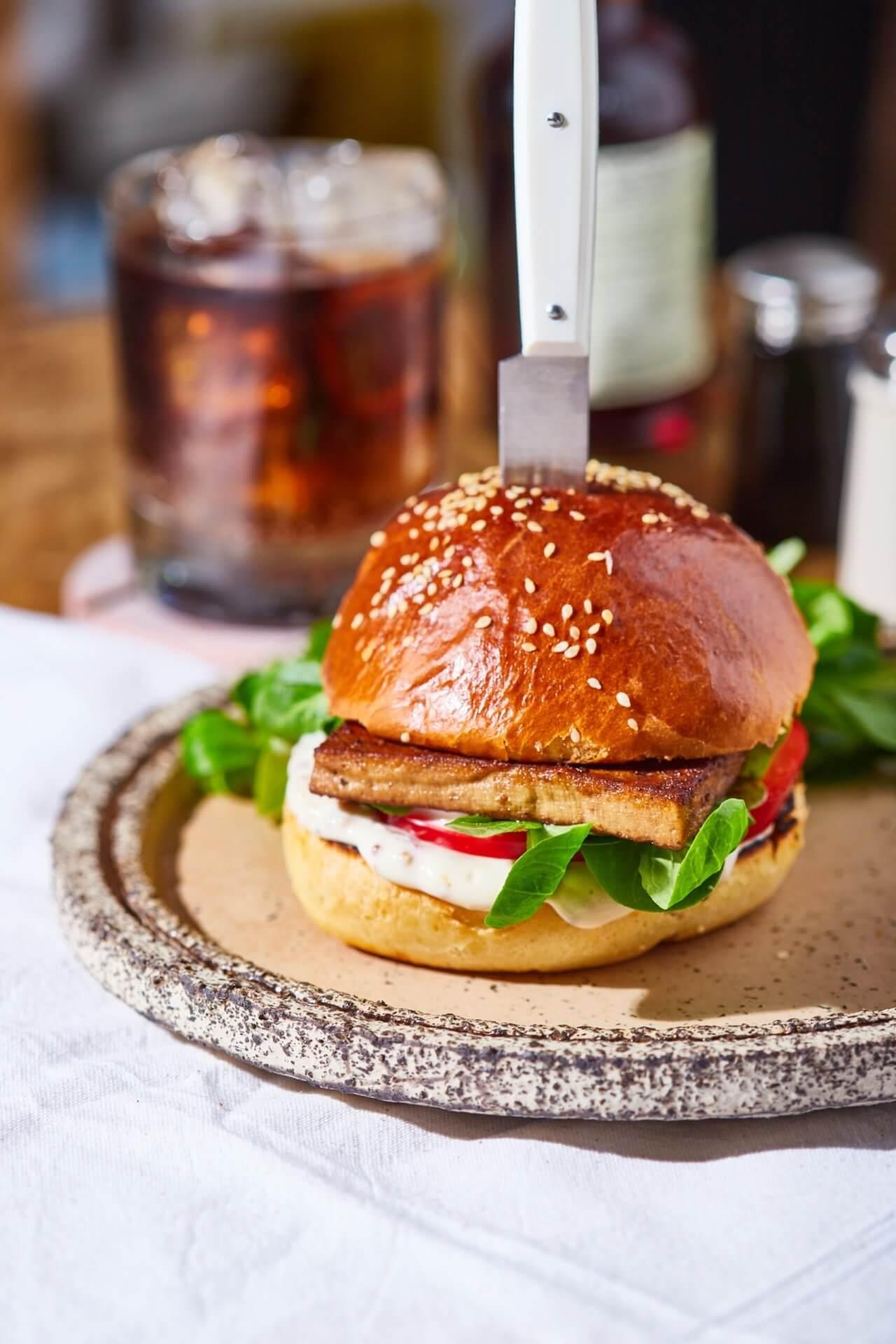 vega burger füstölt tofuval
