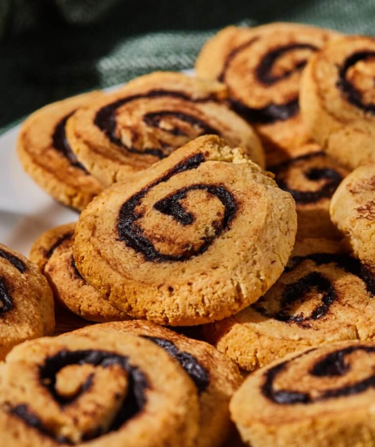 Mentes kakaóscsiga-keksz