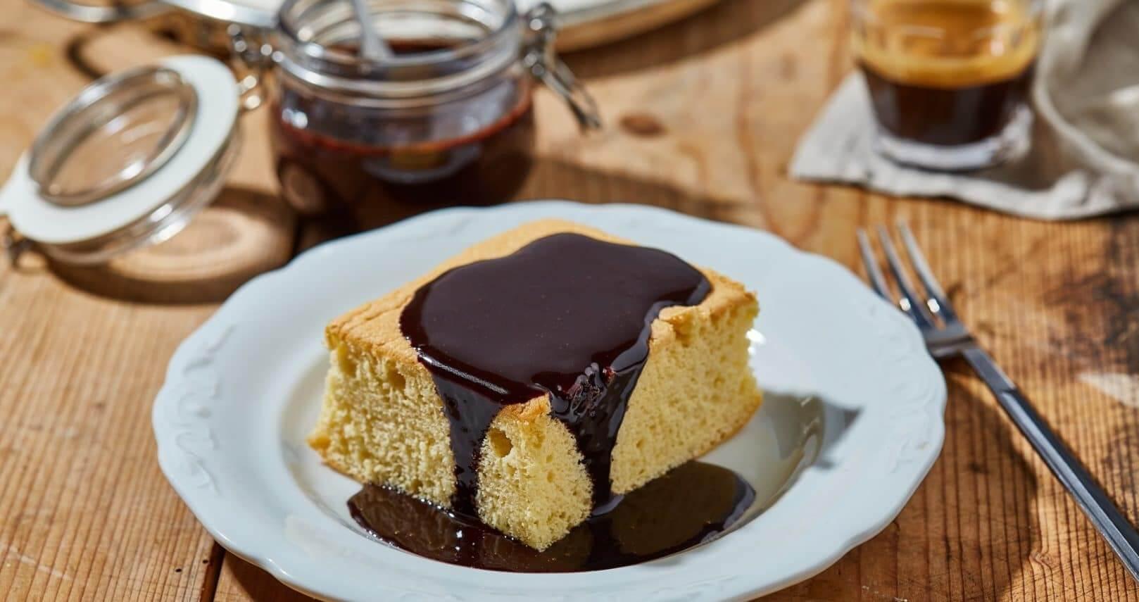 Klasszik menzás piskóta csokiöntettel