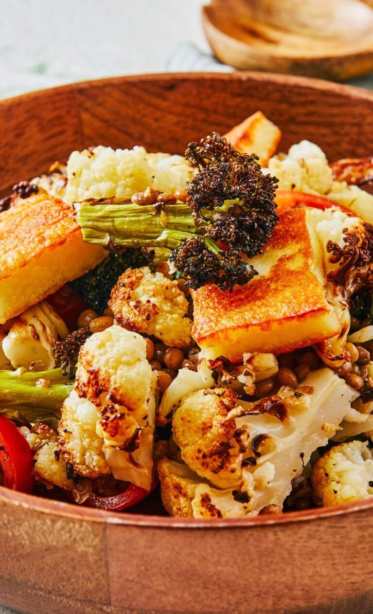 Sült karfiolsaláta
