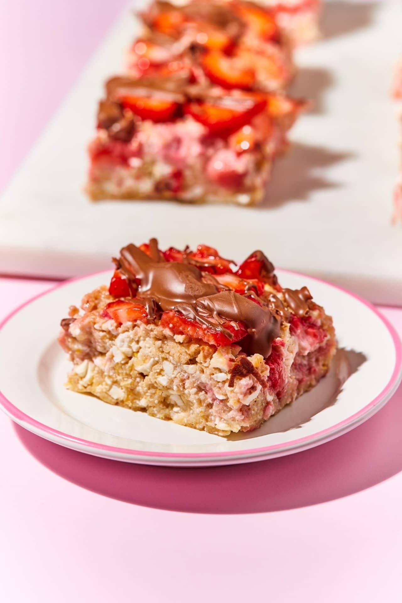 Cukor- és gluténmentes epres-zabos süti