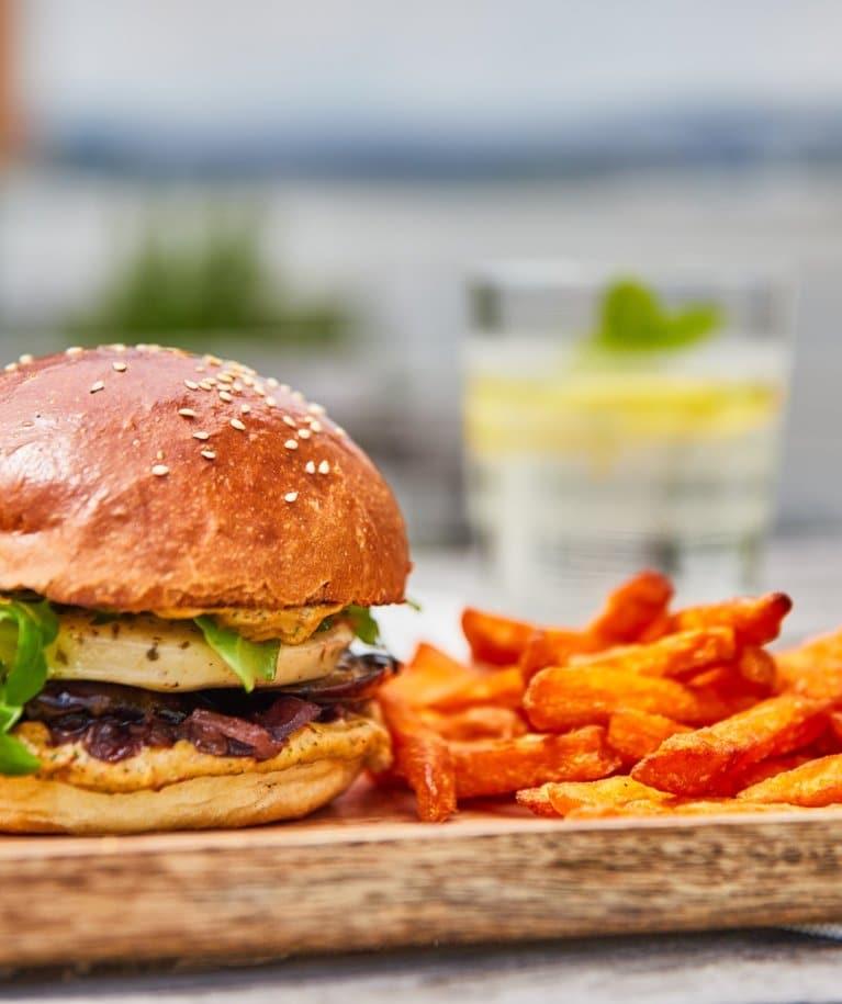 Grillsajtos vega hamburger