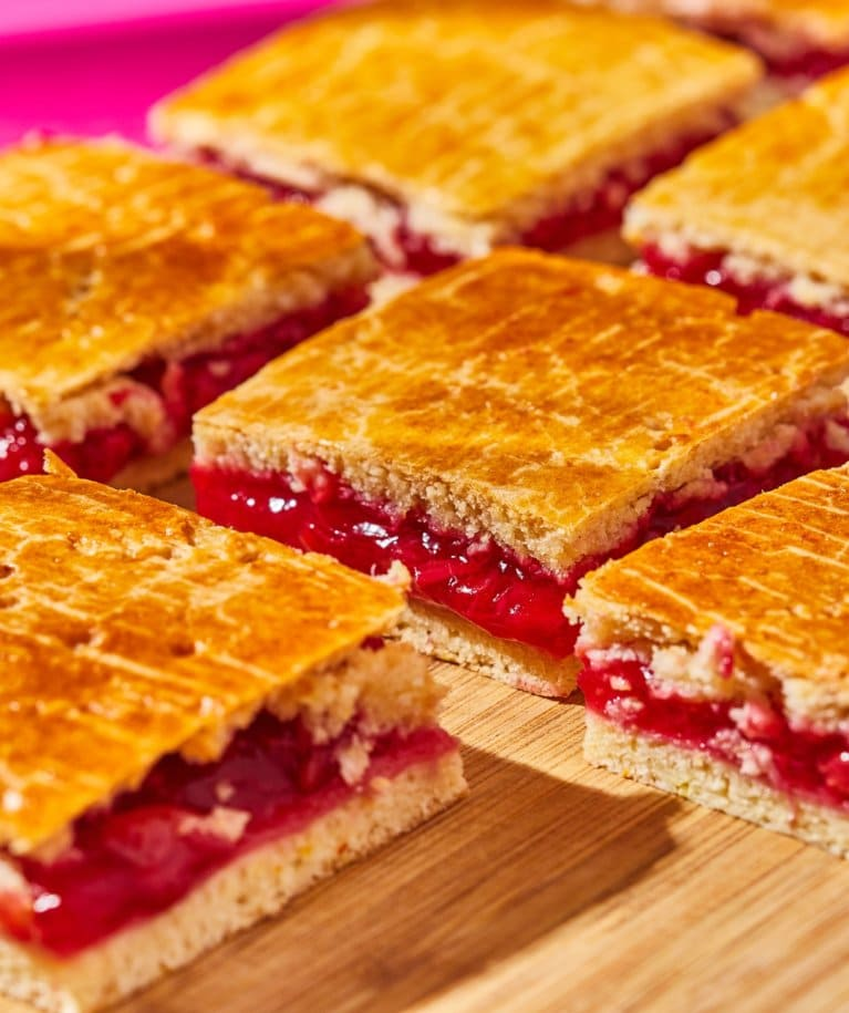 cukormentes meggyes-rebarbarás pite