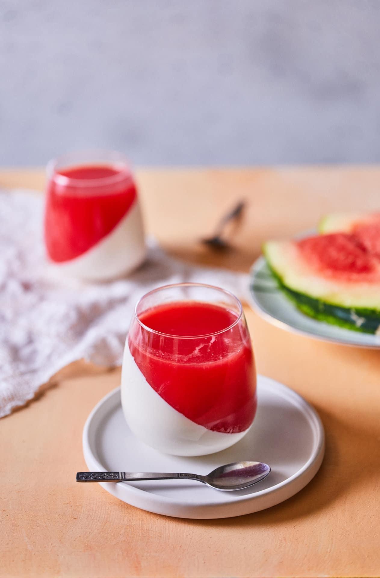 görögdinnyés panna cotta