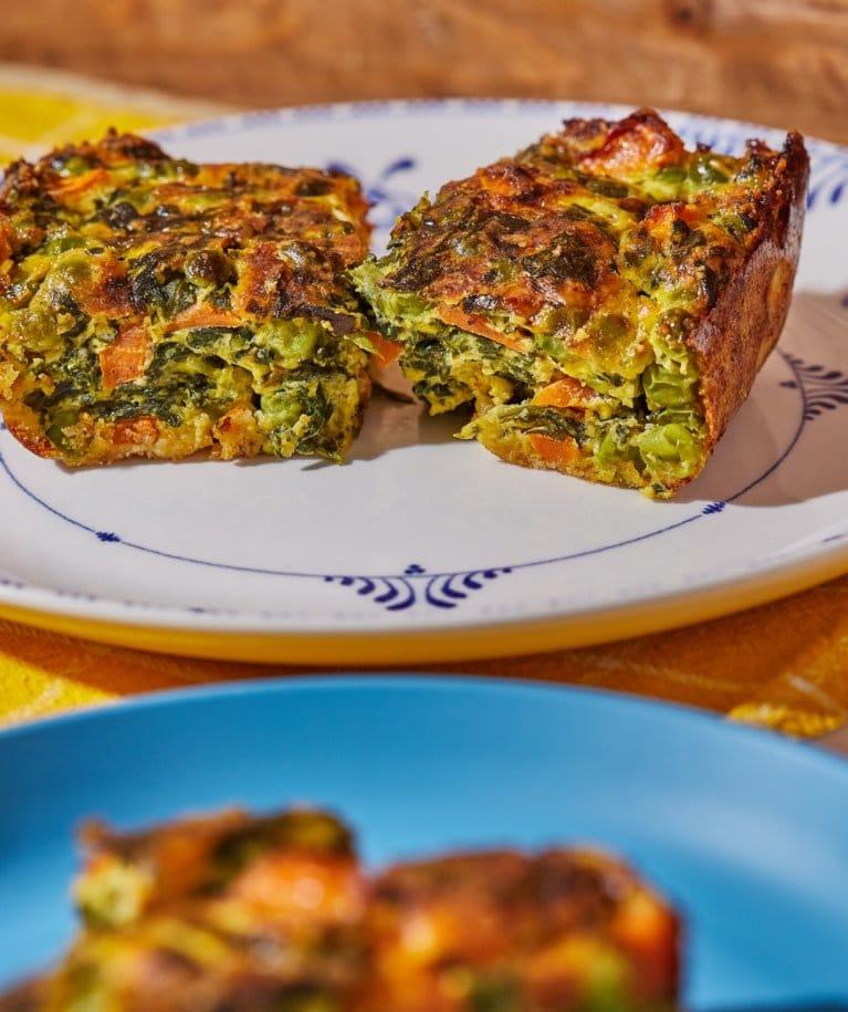 Zöldséges frittata