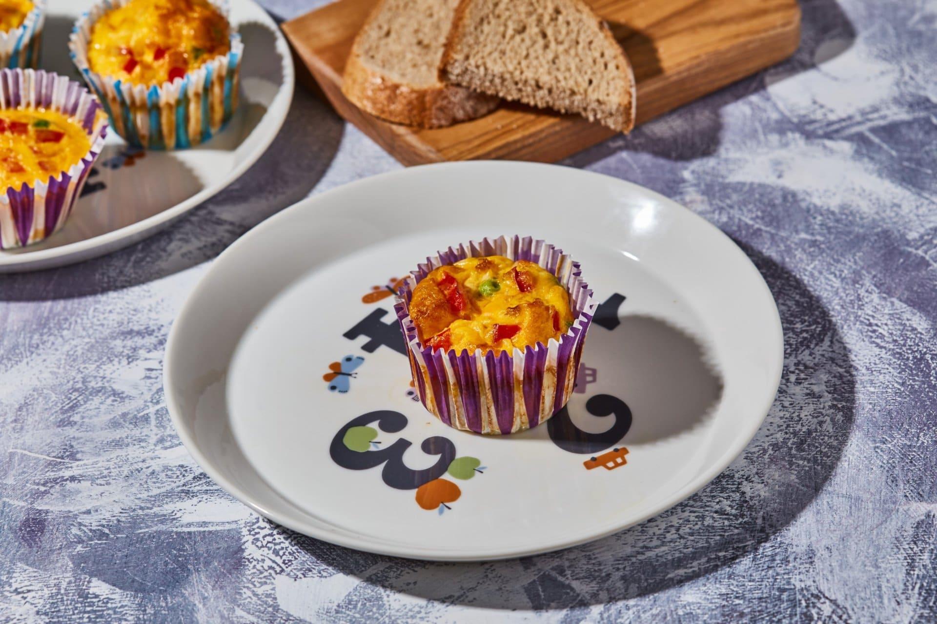 Zöldséges tojásmuffin