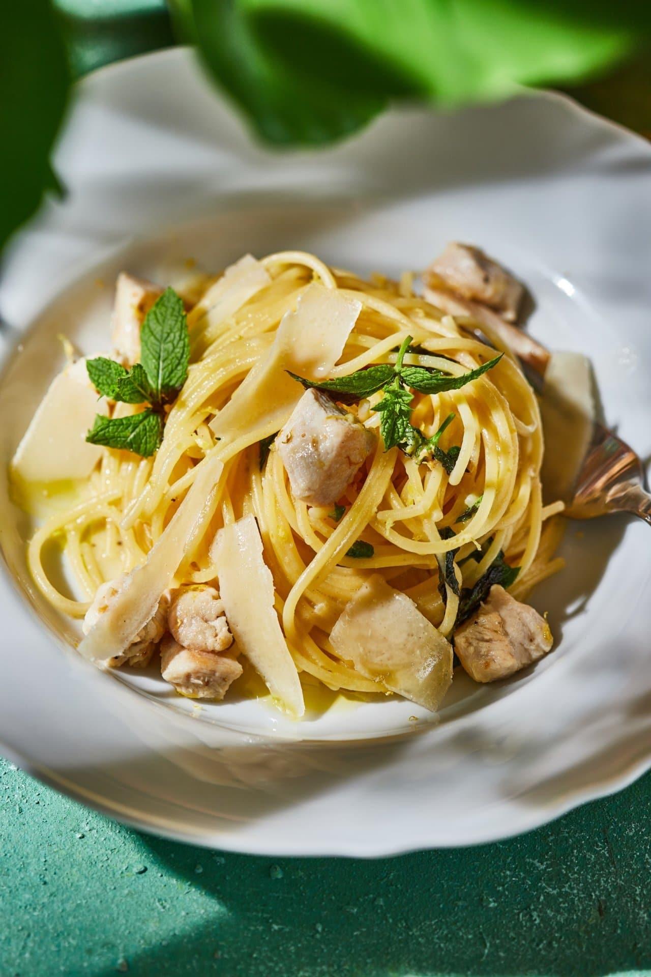 citromos-csirkés spagetti