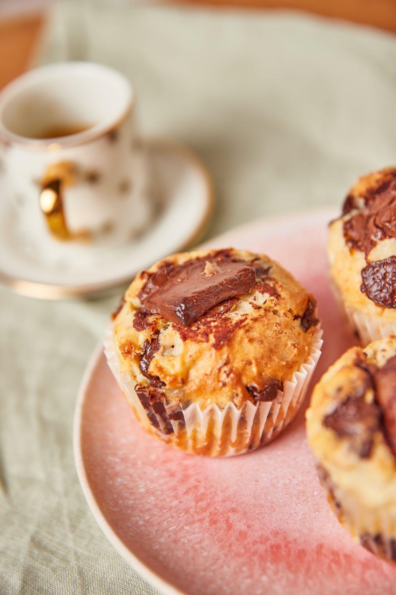 Túrós-csokis muffin