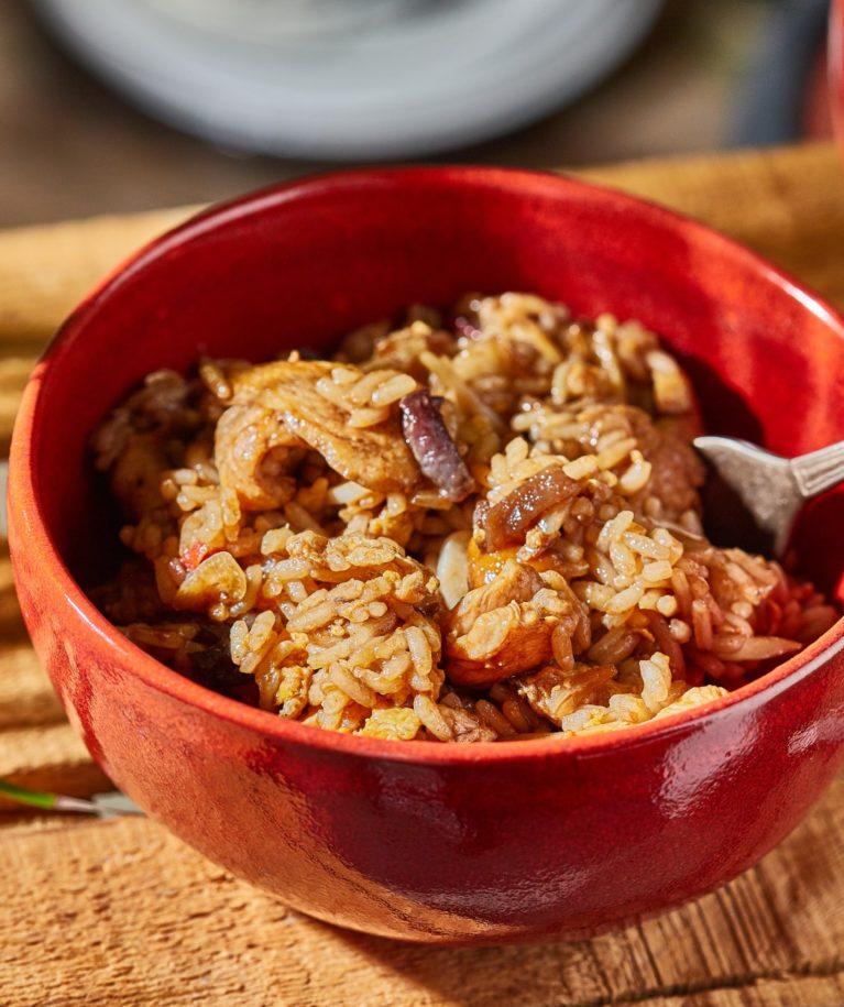 Megúszós csirkés pirított rizs