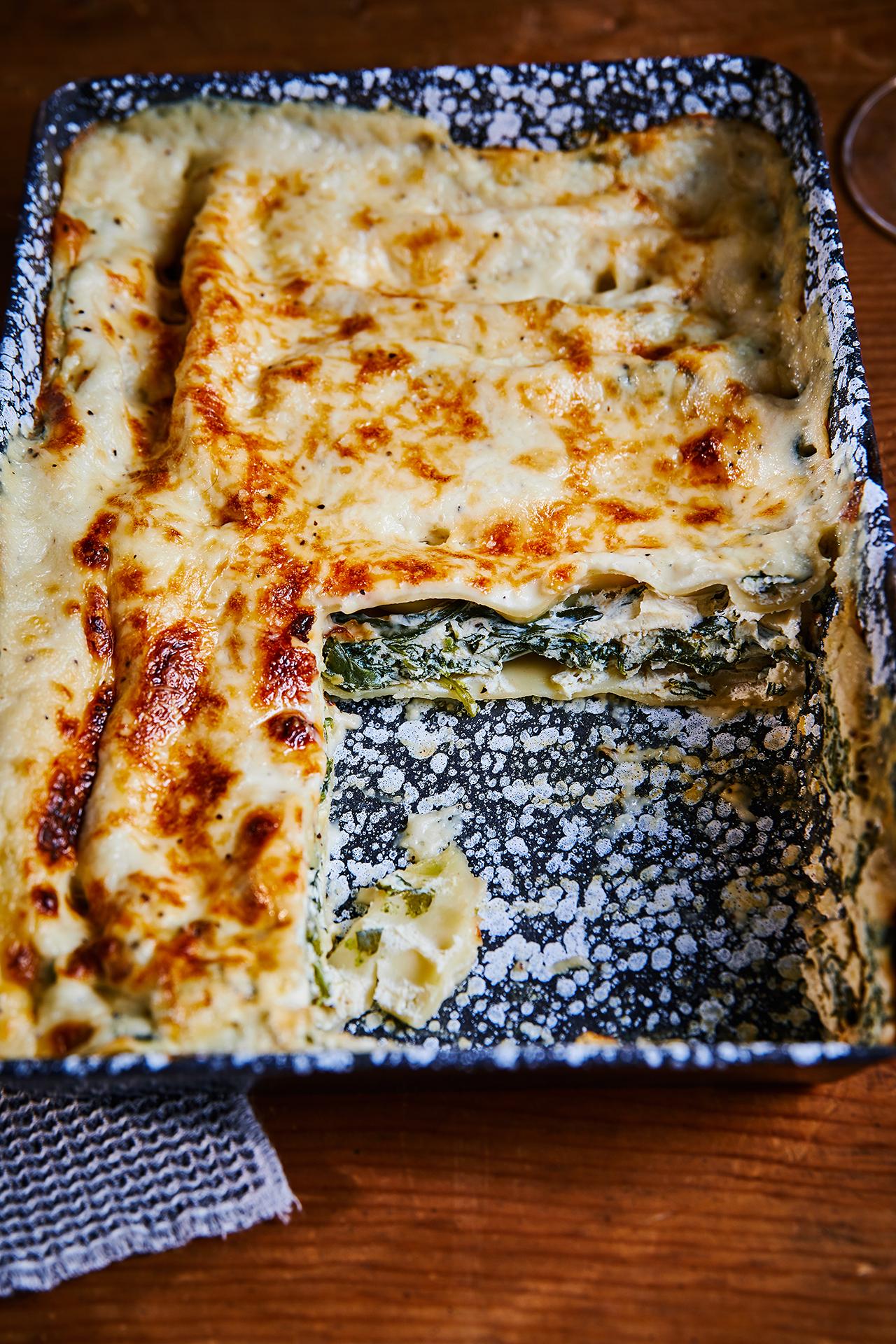 Spenótos-ricottás cannelloni