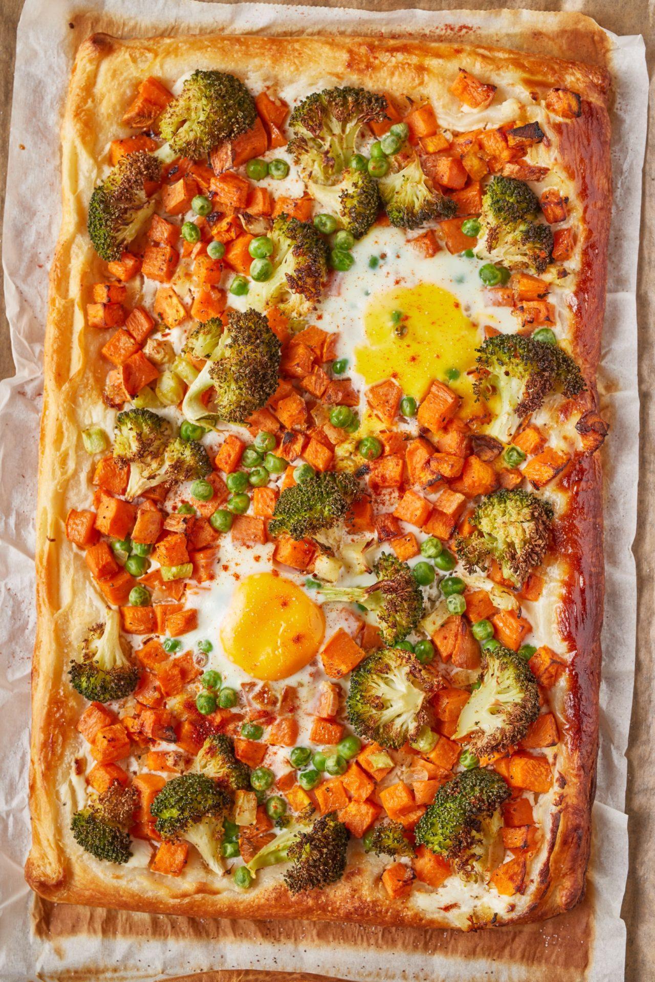 Zöldséges-tojásos lepény